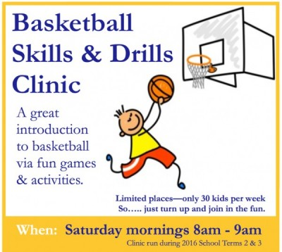 Flyer promoting Skills and Drills Clinic